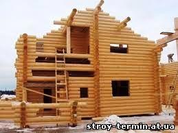 Будівництво будинку в зимовий період.